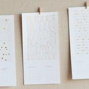 Image of 2011 letterpress calendar
