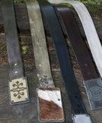 "Image of 1.5"" cross grain leather belt"
