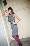 Image of Chelsey - Sleeveless dress with oversized cowl in rayon or eco friendly bamboo