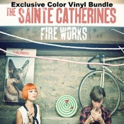 Image of The Sainte Catherines Color Vinyl BUNDLE plus screen printed poster!
