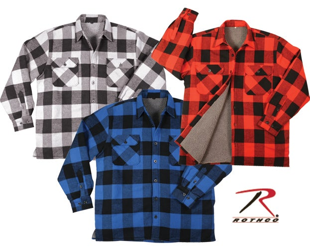 Image of ROTHCO SHERPA-LINED FLANNEL SHIRTS