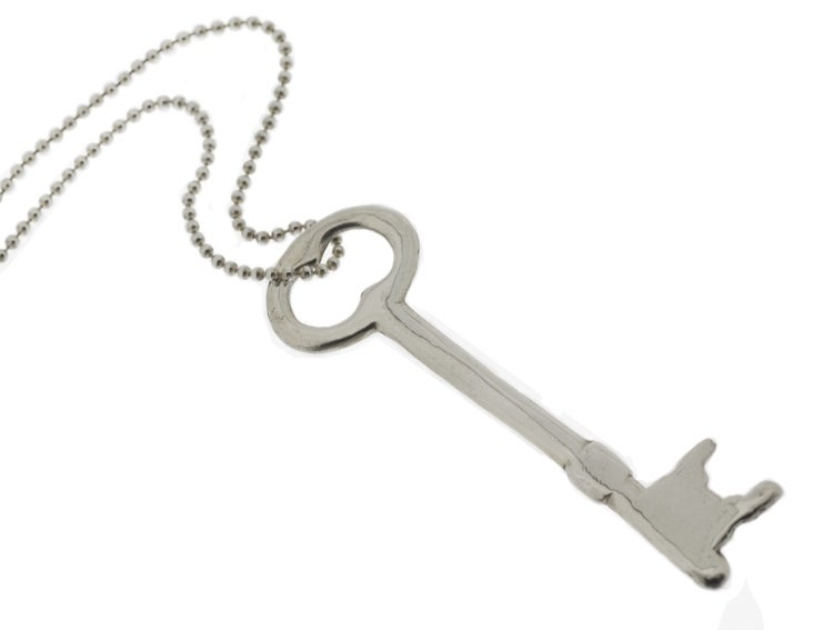 Image of LARGE KEY STERLING SILVER NECKLACE