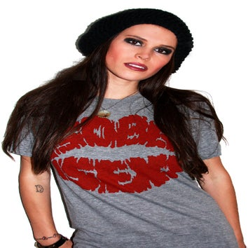 Image of Lips Logo (Heather Grey)