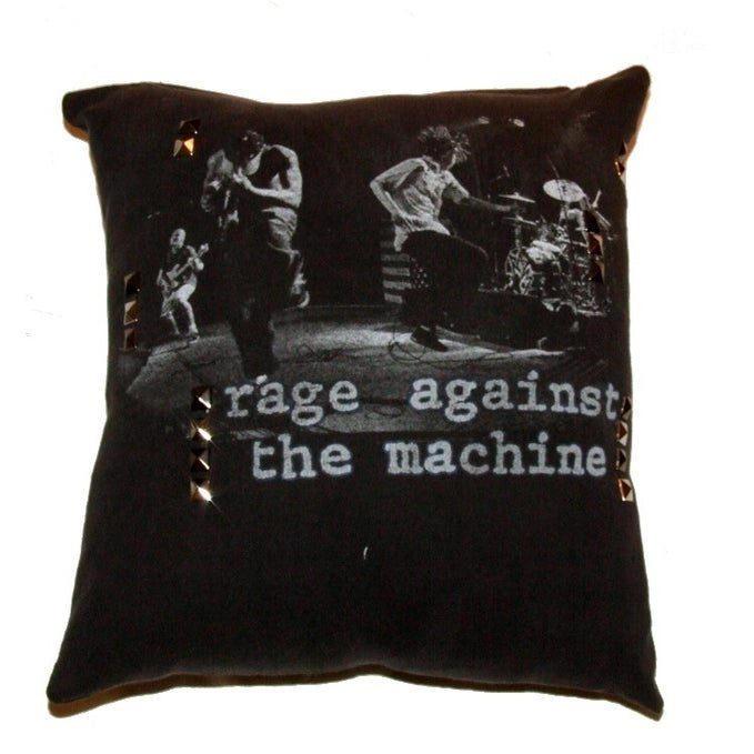 RocksteadyPillows ? Throw Pillow Made of Recycled Vintage Rage Against The Machine Pillow out of ...
