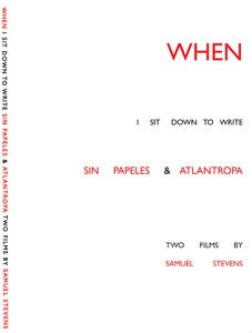Image of WHEN I SIT DOWN Two Films By Samuel Stevens (DVD & booklet)