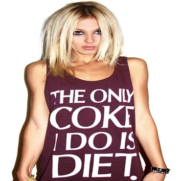 Image of The Only Coke I Do Is Diet Tank Top (Heather Maroon)