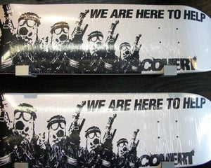 "Image of COVERT ""We Are Here To Help""  Skateboard Deck"