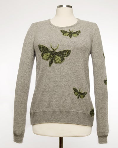 Image of The Bella Moth Cashmere Sweater - Grey & Green