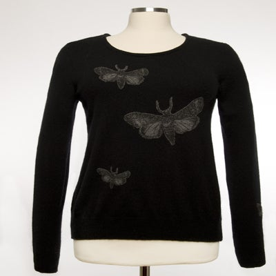 Image of The Bella Moth Cashmere Sweater - Black & Grey
