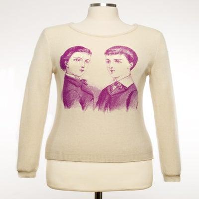 "Image of ""Dandies"" Womens Cashmere Sweater - Cream"