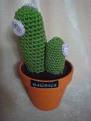 Image of Crocheted cactus