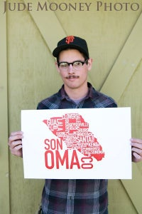 Image of Sonoma Co - Screen Printed Poster