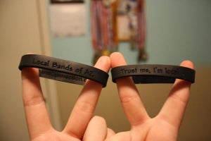 """Image of """"Trust Me, I'm Local"""" Wristbands"""