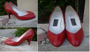Image of Vintage 80s Red Pumps