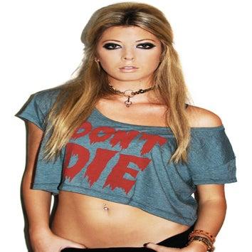 Image of Don't Die Crop Top (Heather Forrest)