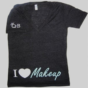 Image of I Heart Makeup V-Neck (black)