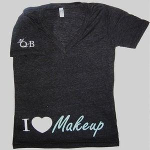 Image of I Heart Makeup V-Neck (black)