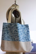 Image of Blue Ships Tote Bag by Aunt June