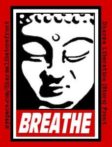 "Image of ""Breathe"" Sticker"