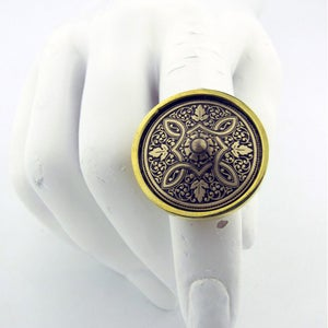 "Image of ""Rock the Casbah"" Brass Adjustable ring"