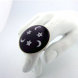 Image of Moon & Stars Oversized Cocktail ring