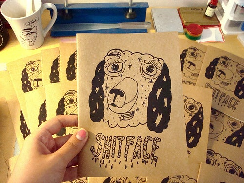 Image of SHITFACE zine by Pacolli