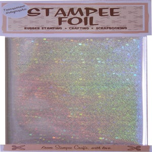 Image of Transparent Stars Holographic Foil