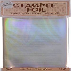 Image of Transparent Rainbow Holographic Foil