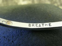 "Image of ""Breathe"" sterling cuff bracelet"