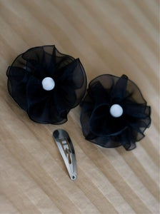 Image of Little Black Flower Clip