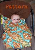 Image of Car Seat Blanket Pattern and Picture Tutorial PDF