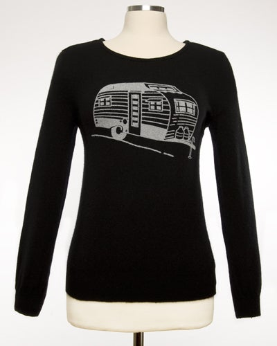 "Image of ""Living The Dream!""  Womens Cashmere Sweater - Black"