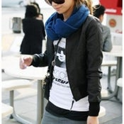 Image of Faux Leather Jacket