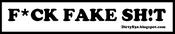 "Image of F*CK FAKE SH!T - 6"" Vinyl ""Promo"" Sticker (White/Black)"
