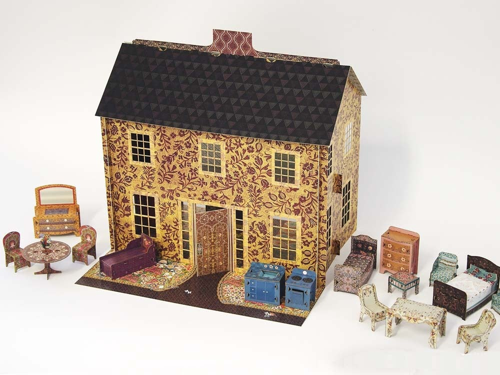 Emily S Dollhouse With All Accessories 1 2 Scale Leafpdx