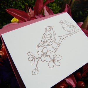 Image of Letterpress Card Set: Songbirds