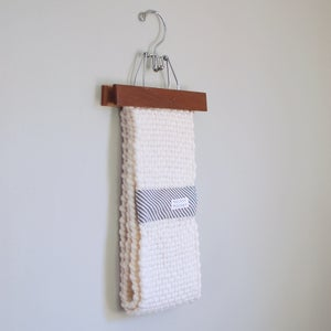 Image of handwoven loop scarf white