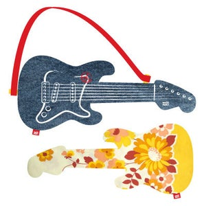 "Image of electric guitar ""yellow flowers"""