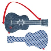 "Image of acoustic guitar ""blue check"""