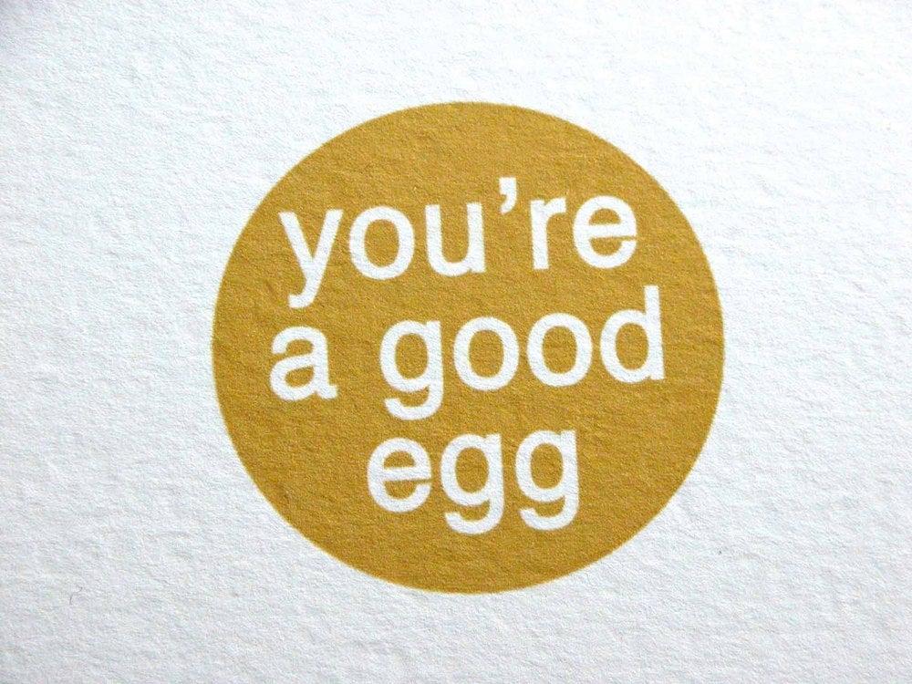 Image of you're a good egg-single folded card