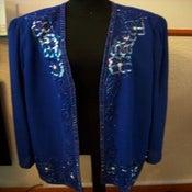 Image of Vintage Dark Blue Sequin Detail Blazer