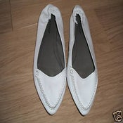 Image of Vintage- Style White Leather Topshop Pumps