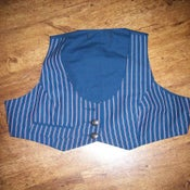 Image of Vitnage - Style Blue Pinstripe Waistcoat