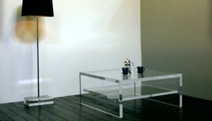 Image of Acrylic Coffee Table UK / With Shelf