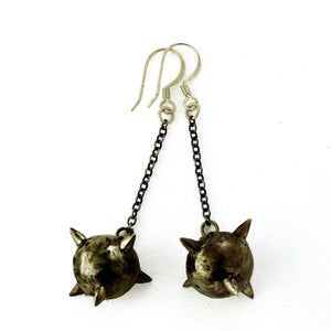 Image of Oxidized Short Mace Earrings