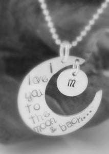 Image of I Love You to the Moon & Back Crescent Moon Necklace
