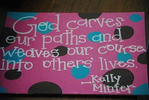 Image of Canvas- Faith Quote