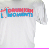 Image of WHITE DRUNKEN MOMENTS LOGO T