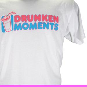 Image of WHITE DRUNKEN MOMENTS LOGO T