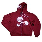 Image of Cranberry Zip Up Hoodie